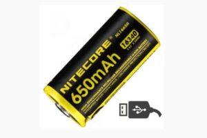 Батерия nitecore nl1665r protected с usb