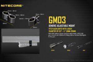 Крепеж за фенер към оръжие nitecore gm03