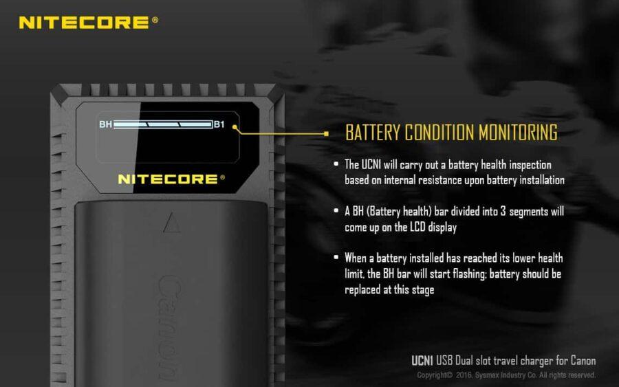Nitecore ucn1 зарядно за canon
