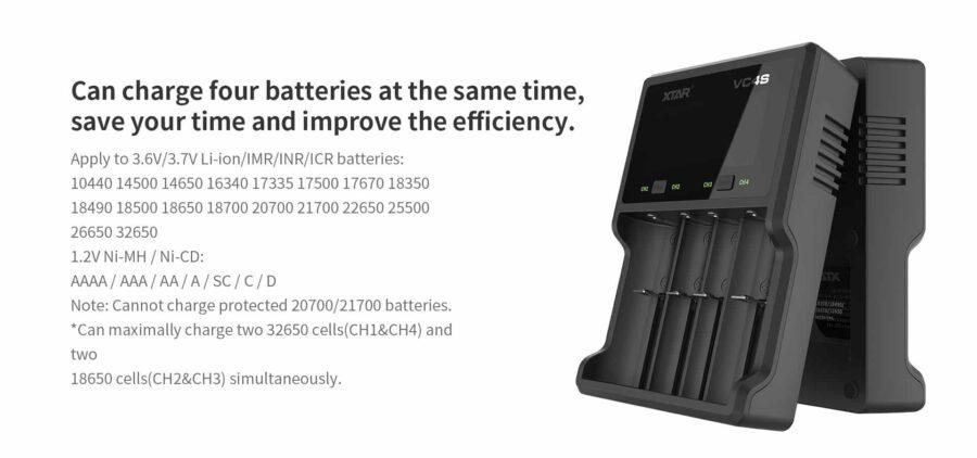 Xtar vc4s зарядно устройство