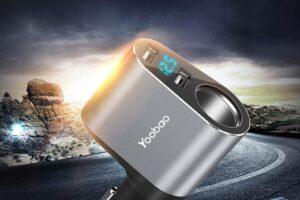 Зарядно за кола yoobao 3 в 1 сиво