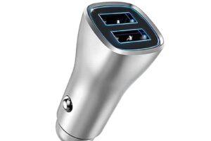 Зарядно за кола 2 usb fast charge-черно
