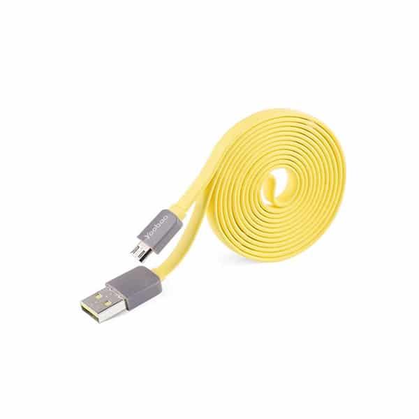 Кабел yoobao usb 2.0 жълт-80см