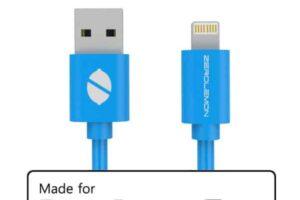 Mfi zerolemon usb кабел 2m-син pvc