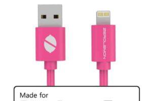 Mfi zerolemon usb кабел 2m-розов pvc